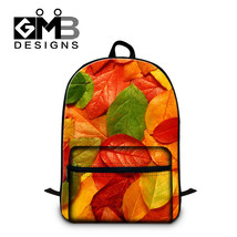 Artistic Leaves 3D printing Fashion School Back... - $60.53