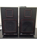 Soundesign 0617A Rare, Vintage Retro  Set of 2 Speakers Black with Red Trim - $29.95