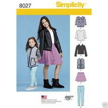 S8027/S0194 Child's Jacket Vest Skirt Leggings ... - $5.89