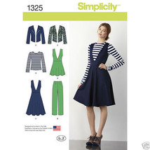 S1325 Misses' Pants Jumper Tunic Jack Top Sizes 14-22  Simplicity Sewing... - $5.89