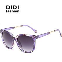Big Round Polarized Sunglasses Women Men Tranparent Frame Flower Print S... - $39.17