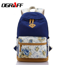 canvas women backpack school bags for teenagers... - $54.71