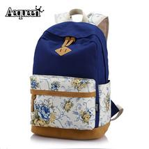 Canvas Women Backpacks Girls School Bag Floral Korean Backpacks Girls La... - $65.61