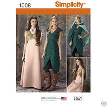 S1008 Misses Fantasy Costume Sizes 14-22 Simplicity Sewing Pattern - $5.89