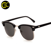 Classic Fashion Sunglasses Men Designer Half Metal Mirror Sun Glasses Ma... - $14.33