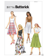 B5756 Misses' Pleated or Gathered Skirts Sizes 16 - 24 Butterick Sewing ... - $5.89