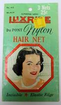 Vintage 1950s Luxrite Du Pont Nylon Mesh Hair Net Envelope - $7.87
