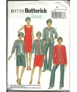 B5719 Misses Jacket Dress Skirt Pants Sizes 8-16 Butterick Sewing Pattern - $5.89