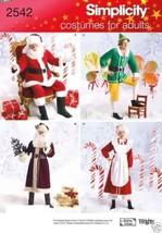 S2542 Santa, Mrs Santa, Elf, Mr Winter Costumes Adults L-XL Simplicity P... - $5.89