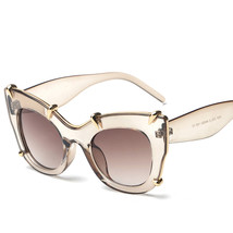 Fashion Cat Eye Sunglasses Women Designer Oversized Sun Glasses Retro Ca... - $20.17