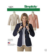 S1421 Misses' Jackets Sizes 6-14  Simplicity Sewing Pattern - $5.89