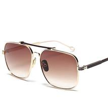 Fashion Men Women Sunglasses Designer Metal Frame Sun Glasses Vintage Gr... - $20.17