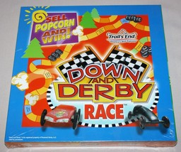 Down and Derby Race Trails End Board Game 2005 Sell Popcorn Cub Scouts ~ New - $15.79