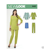 NL6421 / S0272 Misses Tunic Skirt and Pants Sizes 8-20  New Look Sewing ... - $5.89