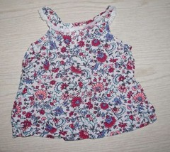 CARTER's Infant Girls Size 9 Months Sleeveless Floral Top - $4.99