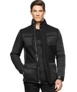 Calvin Klein Wool Blend Mix-Media Jacket Black Size XL MyAFC - $80.49