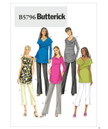 B5796 Misses' Maternity Ruched Tops and Pants Size 8-16 Butterick Sewing... - $5.89