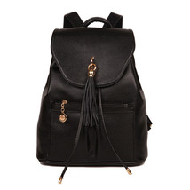 Fashion Tassel Design PU Leather Women Backpacks Casual Travel Shoulders... - $75.74