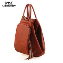 Fashion Tassel Womens Leather Backpacks Casual Lady Backpack Travel Bag ... - $54.06