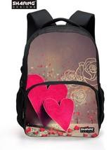 Fashion Teenager Girls School Backpacks 3D Cute Animal Hearts Printing B... - $56.50
