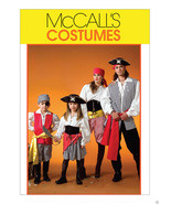 M4952 Boys Girls Pirate  Costume Size 3-8 MCCal... - $5.89