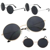Fashion Women Men Retro Vintage Round Glasses Steampunk Sunglasses Metal... - $8.75