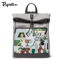 FIGESTIN Women Leather Backpacks Design Zipper ... - $143.94