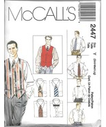 M2447 Mens Vest, Shirt and Ties Sizes 34-44 McCalls Sewing Pattern - $5.89