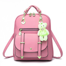 Gorgeous Solid Back Pack Bag PU Leather European and American Style Prep... - $72.02