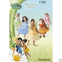 S1792 Toddlers Disney Fairy Costume Sizes 1/2-3 Simplicity Sewing Pattern - $5.89