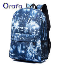 Men backpack fashion school bags for teenagers printing backpack travel ... - $44.54