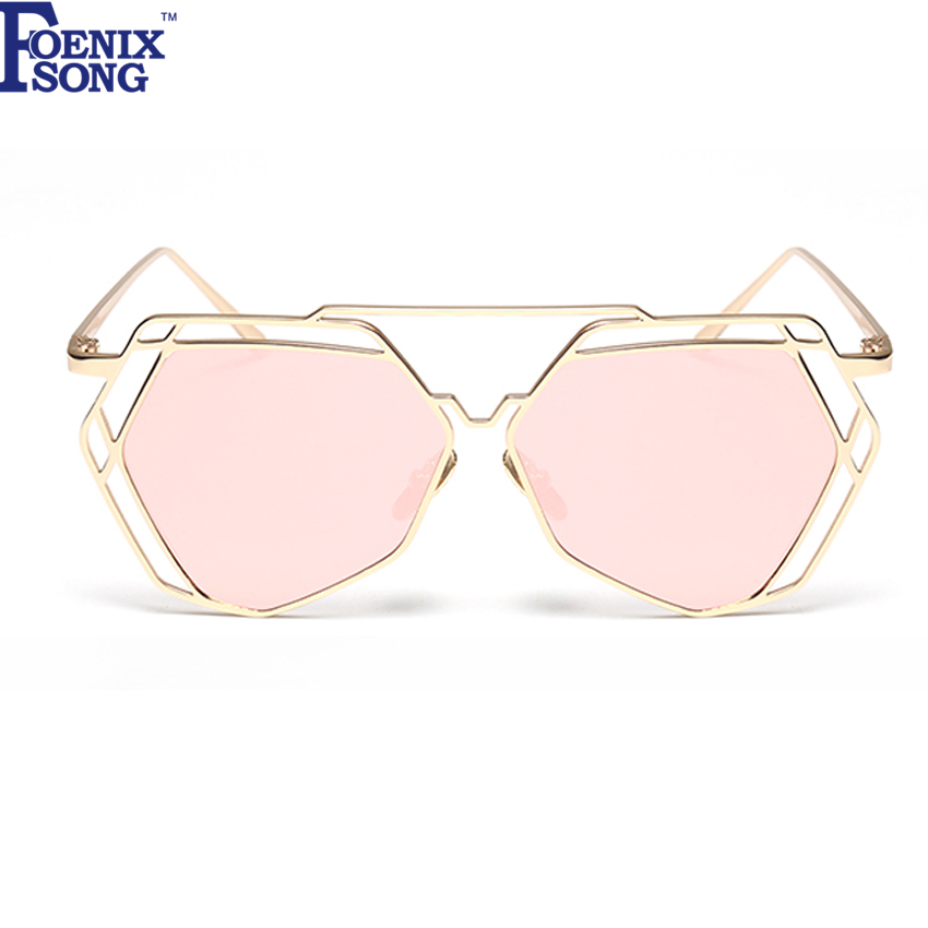 Pink Mirror Sunglasses for Women Fashion Retro Men Sun ...