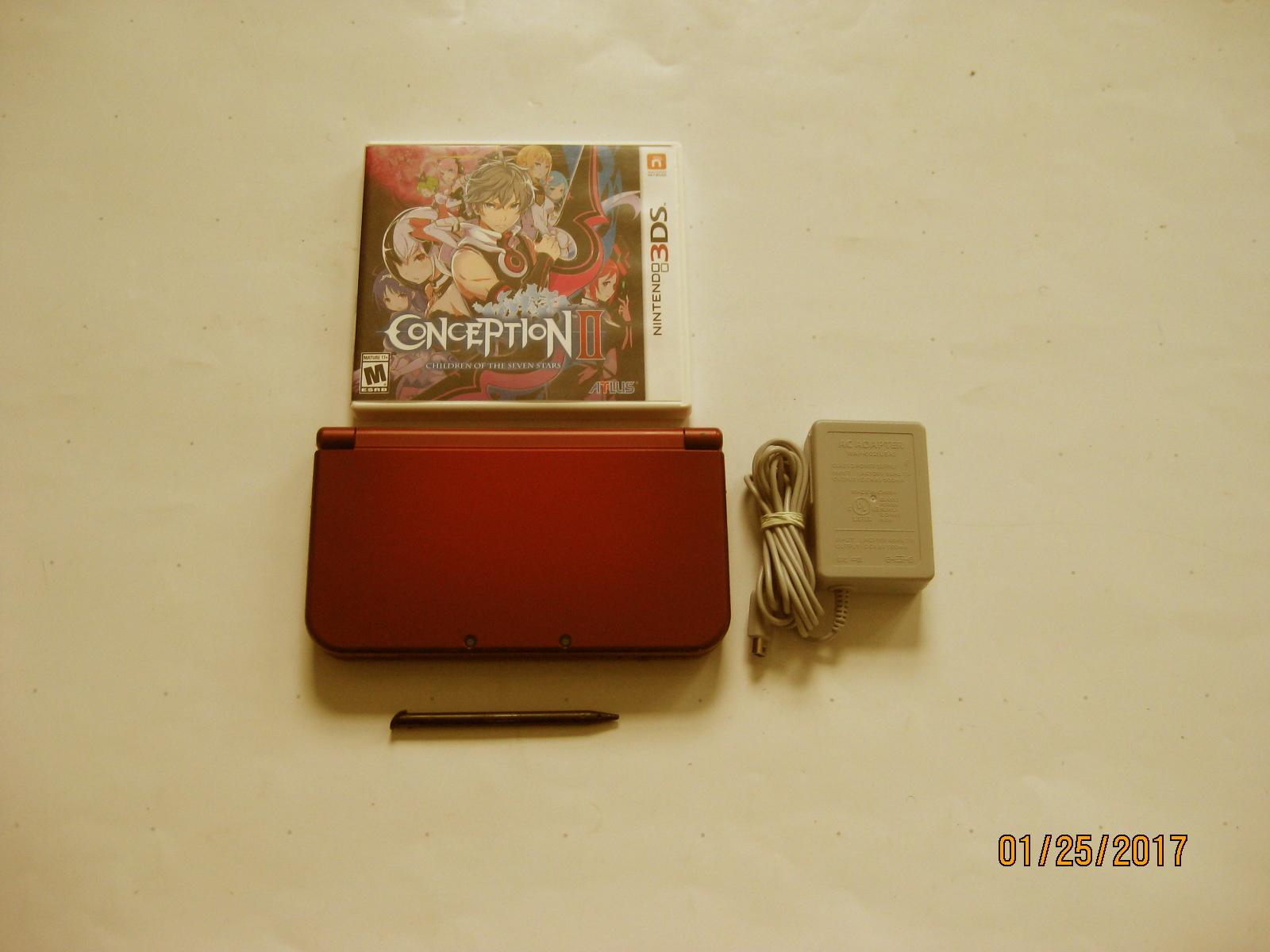 Primary image for Red Nintendo New 3ds xl w Conception II & More!!!