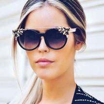 Star Fashion Cat Eye Sunglasses Women Metal Clear Crystal Diamond Sun Gl... - $26.75