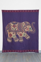 Urban Outfitters Magical Thinking Printed Elephant Tapestry purple red g... - $54.99