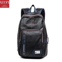 UIYI Fashion PU Leather Men Backpack Preppy Style Man Women Bolsas Mochi... - $135.28
