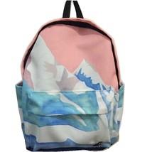 Women Canvas Backpack Fashion Rucksack School Shoulder Bag Landscape Bac... - $33.61