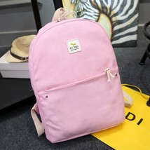 women fashion canvas backpack female student school backpack lady cute p... - $20.17