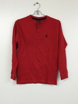 us polo assn Long Sleeve Henley Two Button, Red, Youth 10-12, New Without Tags - $9.74