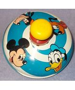 Chein Playthings 1973 Walt Disney Productions Metal Top Toy Mickey Mouse  - $10.00