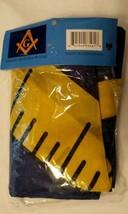 New MASONIC FLAG Blue Yellow 3' x 5' Polyester Canvas Head Brass Grommet... - $14.95
