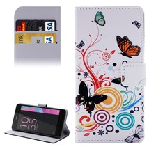 For Xperia E5 Butterfly Pattern Leather Case with Holder, Card Slots & W... - $8.99