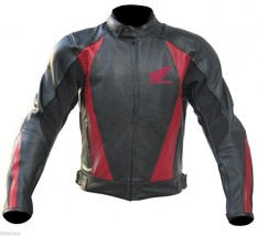 Men Honda Wing Leather Jacket, Black Leather motorbike Jackets - $158.39