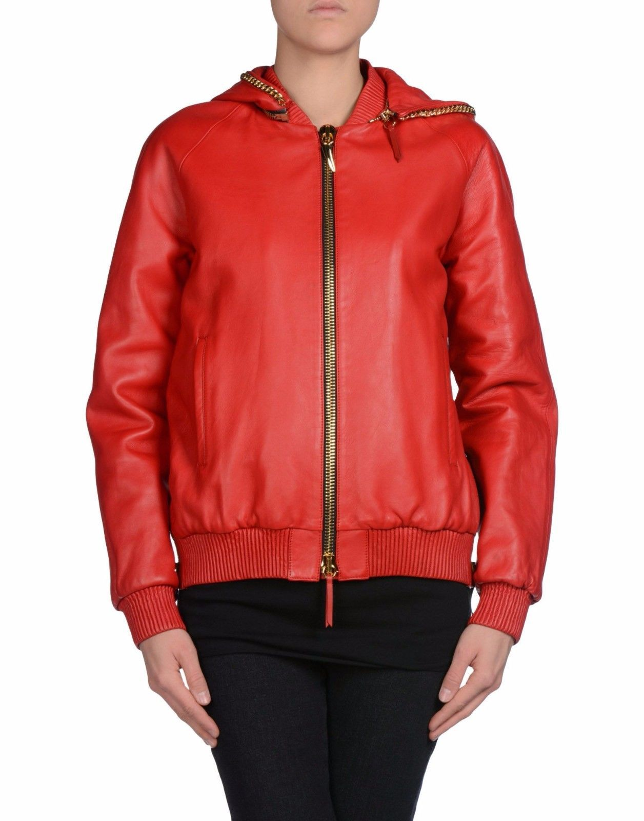 Winter Women Leather Motorcycle Women Genuine Leather Jacket Biker Jacket HL-163