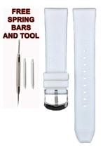 Compatible Armani AR1054 20mm White Rubber Watch Strap (Similar) ARM130 - $19.79
