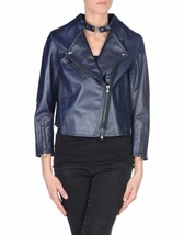 Winter Women Leather Motorcycle Women Genuine Leather Jacket Biker Jacket HL-166