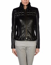 Winter Women Leather Motorcycle Women Genuine Leather Jacket Biker Jacket HL-157