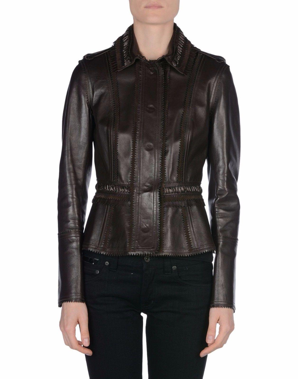Winter Women Leather Motorcycle Women Genuine Leather Jacket Biker Jacket HL-167