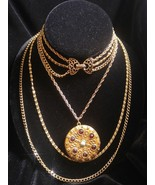 GOLDETTE Victorian Revival Multi-Strand GoldTone Necklace with Locket - ... - £65.00 GBP