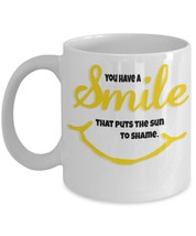 You Have A Smile That Puts The Sun To Shame. 11 oz White Ceramic Coffee ... - $15.99